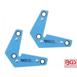 Set malih magnetnih držača L-oblik, 9 kg, 2-delni