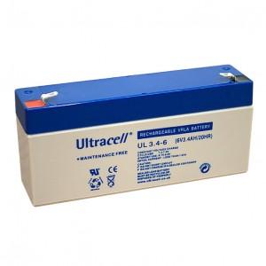 Žele akumulator Ultracell 3,4 Ah 6V/3,4-Ultracell