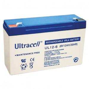 Žele akumulator Ultracell 12 Ah 6V/12-Ultracell