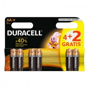 Duracell alkalne baterije AA DUR-LR6/4+2BP