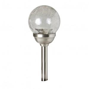 SOLARNA LAMPA SA STAKLENOM LOPTOM I KOLOR LED MX826