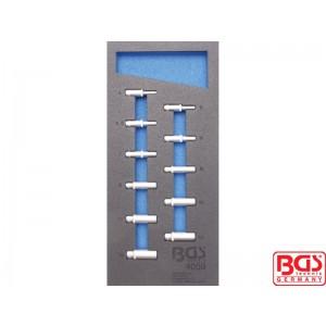 """Uložak sa alatom 1/3: Nasadni ključevi 1/4"""", 6-ugaoni, dugi, 4-13 mm, 11-delni"""