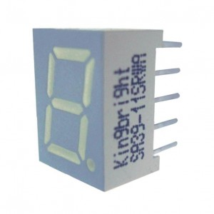 LED displej 7 seg. 10 mm anodni SA39-11GWA