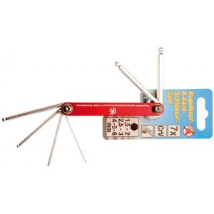 Set imbus ključeva sa okruglom glavom, 1,5 - 6 mm, 7 kom