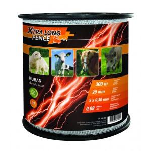 Traka za električnog pastira Xtralong 20mm, 300m